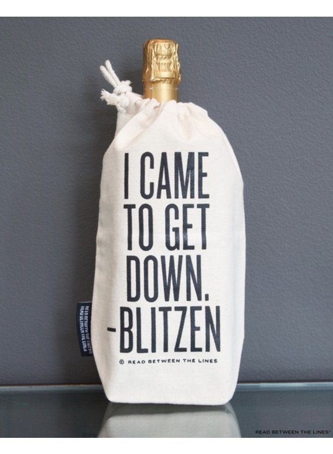 I Came To Get Down Wine Bag