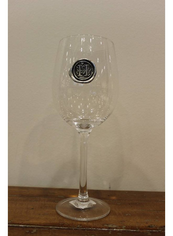 Stem Wine Glass- Initial H