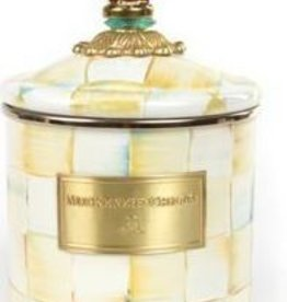 MacKenzie-Childs Parchment Check Enamel Canister -Small