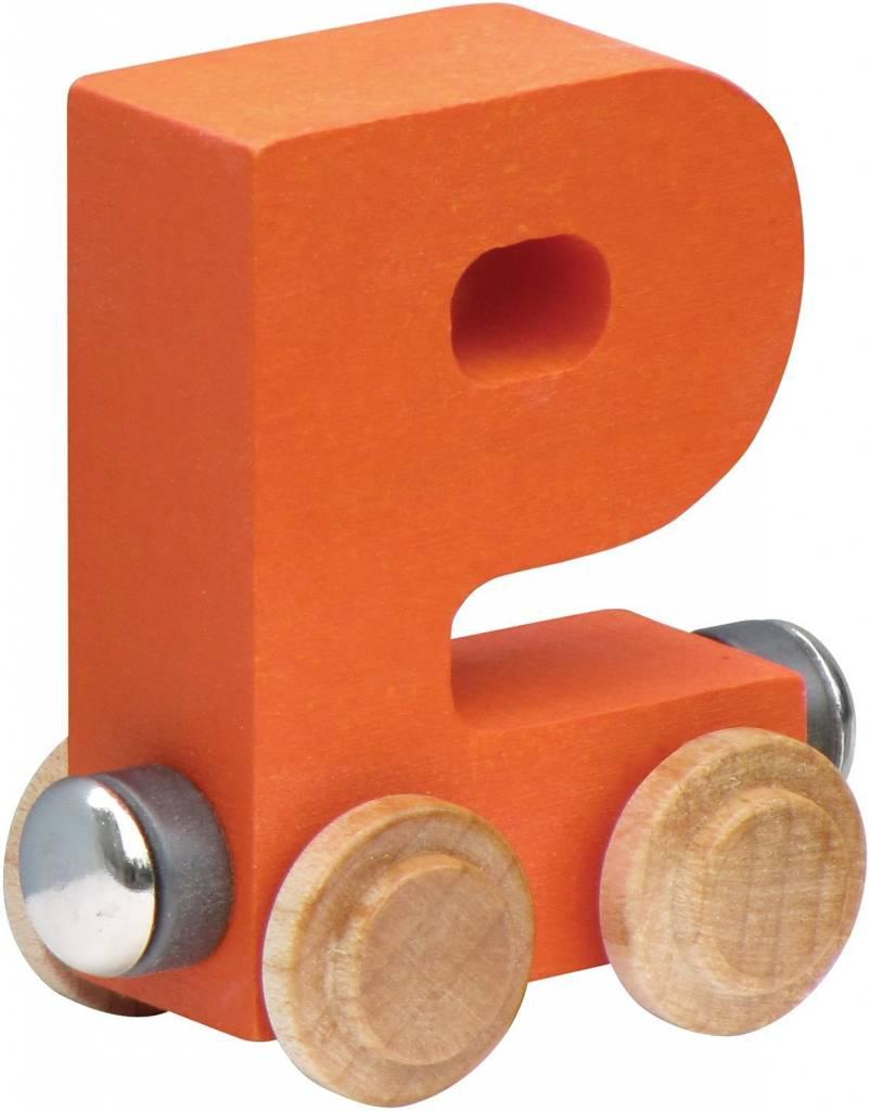 Orange Made in USA Maple Landmark NameTrain Bright Letter Car I