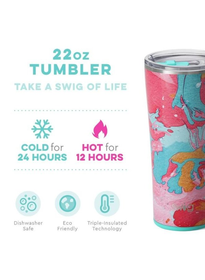 22 oz Tumbler - Cotton Candy