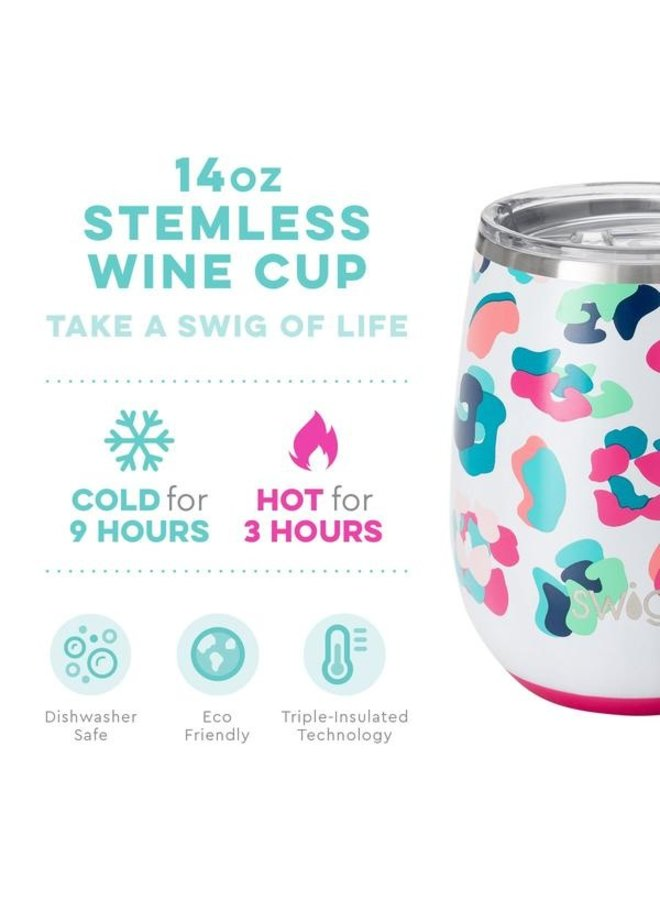 14 oz Stemless Wine Cup - Party Animal