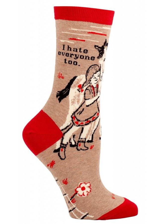Women's Socks I Hate Everyone