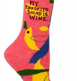 Blue Q Women's Socks My Favorite Salad
