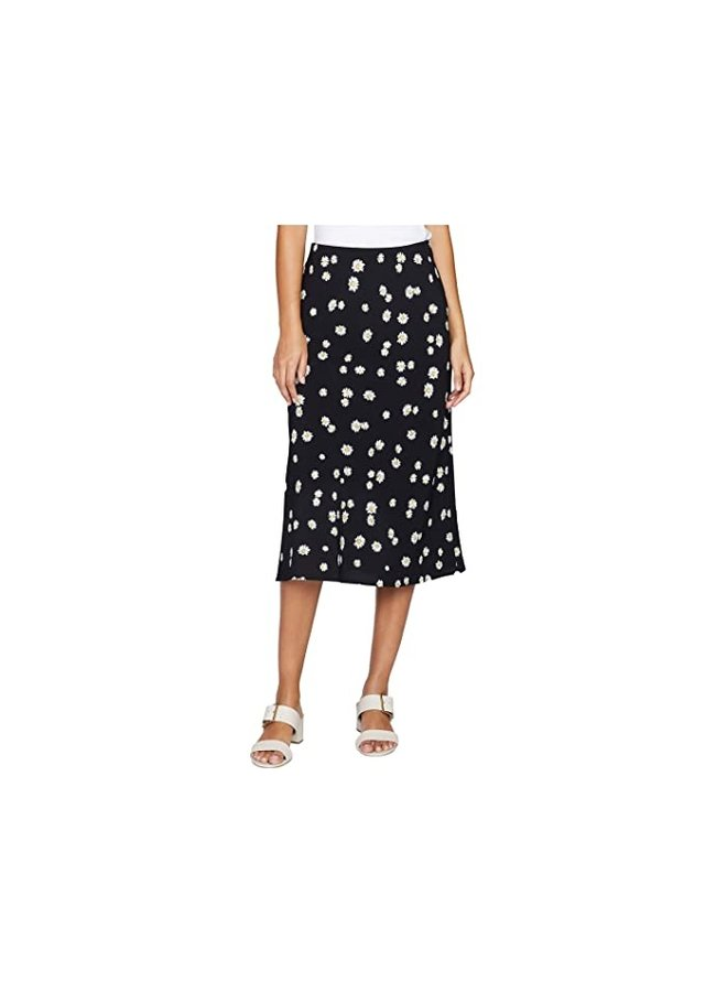 Everyday Midi Skirt-Black Daisy