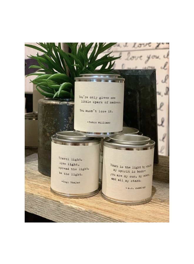 Mini Shine Quote Candle