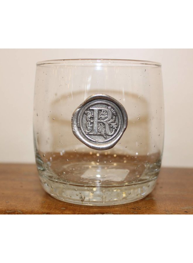 Double Old Fashion Glass-Initial R