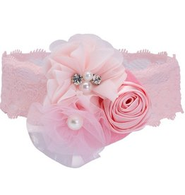 Elegant Baby Couture Headband- Pink