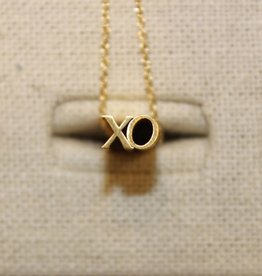 Beth Macri Gold XO Hidden Message Necklace