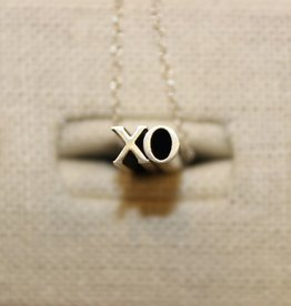Beth Macri Silver XO Hidden Message Necklace