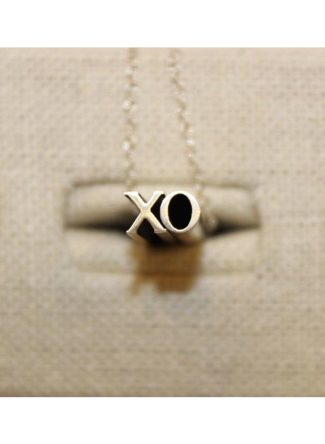 Silver XO Hidden Message Necklace