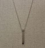 Beth Macri Silver Wishbone Hidden Message Necklace