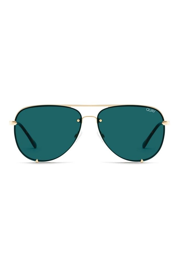 High Key Mini Sunglasses Gold/Teal