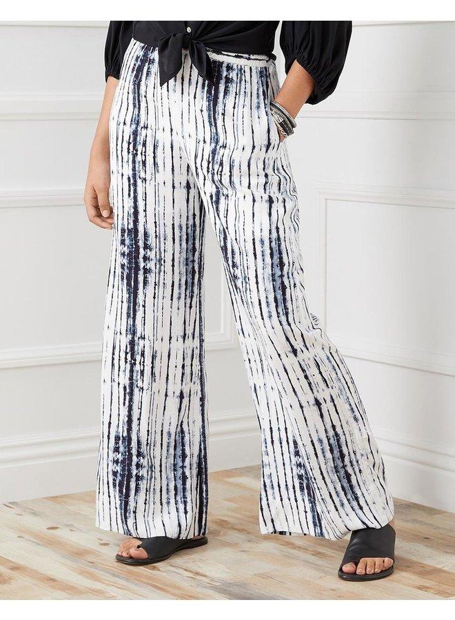 Wide Leg Pant-Blue Tie Dye
