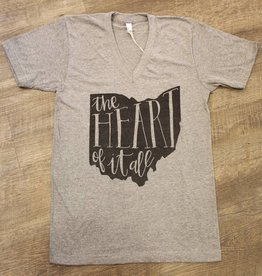 Oyster's Pearl Ohio Heart Of It All Tshirt