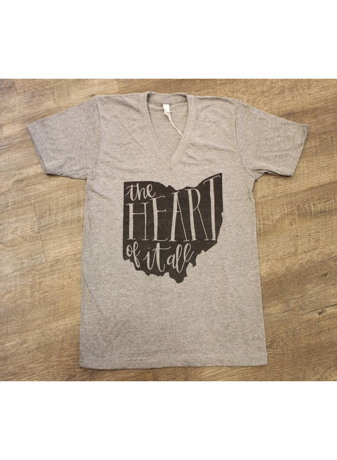 Ohio Heart Of It All Tshirt