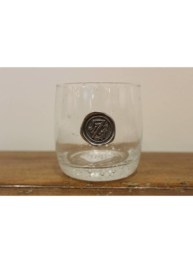 Double Old Fashion Glass- Initial Z