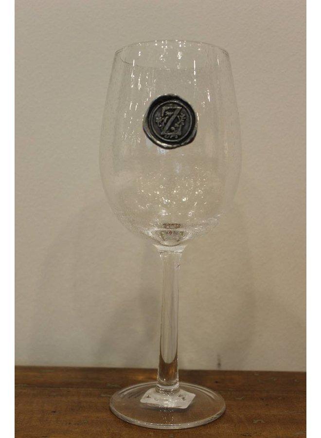 Stem Wine Glass-Initial E