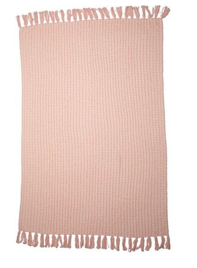 CozyChic Beach House Blanket- Pink Sand