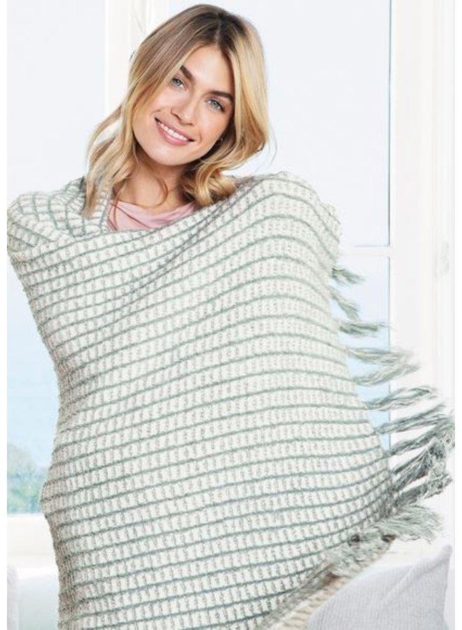 CozyChic Beach House Blanket- Sage Green