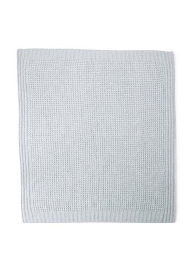 Waffle Baby Blanket- Sea Glass