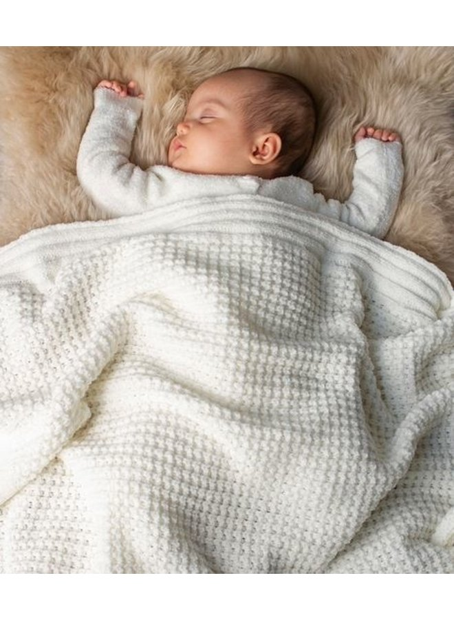 Waffle Baby Blanket- Pearl