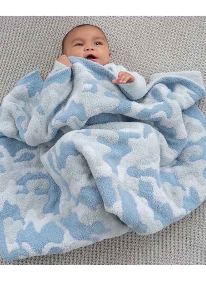CozyChic Camo Baby Blanket - Ocean