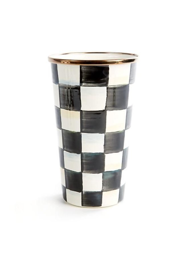 Courtly Check Enamel Tumbler-20 Oz