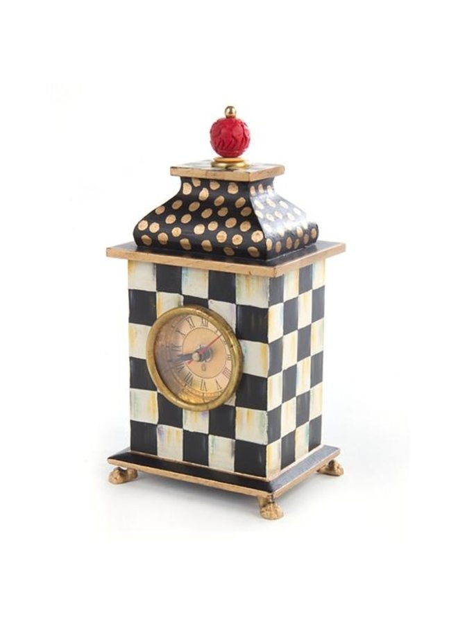 Courtly Check Desk Clock