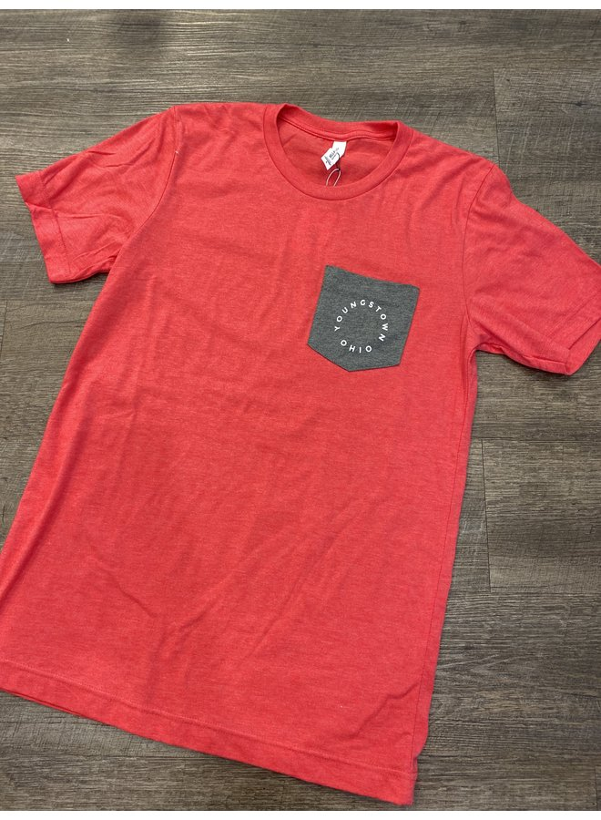 Youngstown Red Circle Pocket Tee