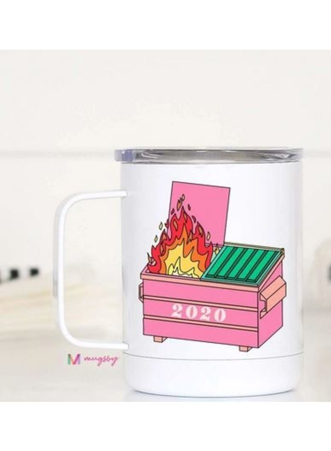 Dumpster Fire 2020 Travel Cup with Handle