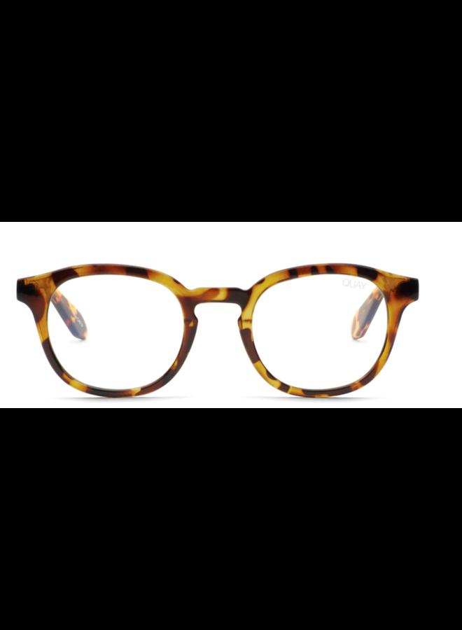 Walk On Bluelight Glasses-Tortoise/Clear