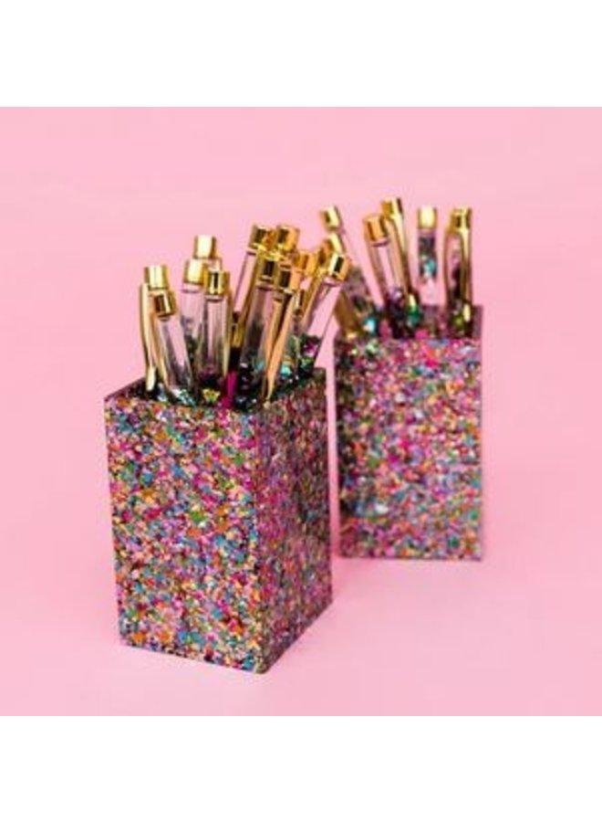 Confetti Acrylic Pen + Pencil Cup