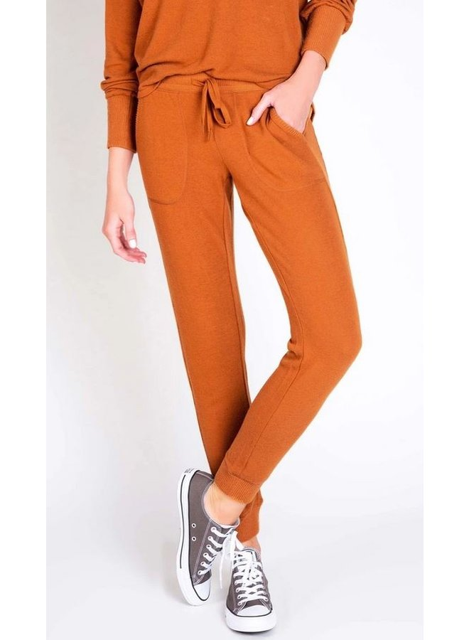 Peachy Banded Pant-Copper