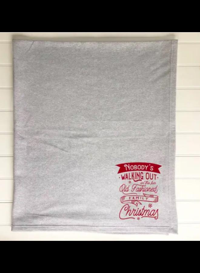 Fun Old Fashioned Family Sweatshirt Blanket
