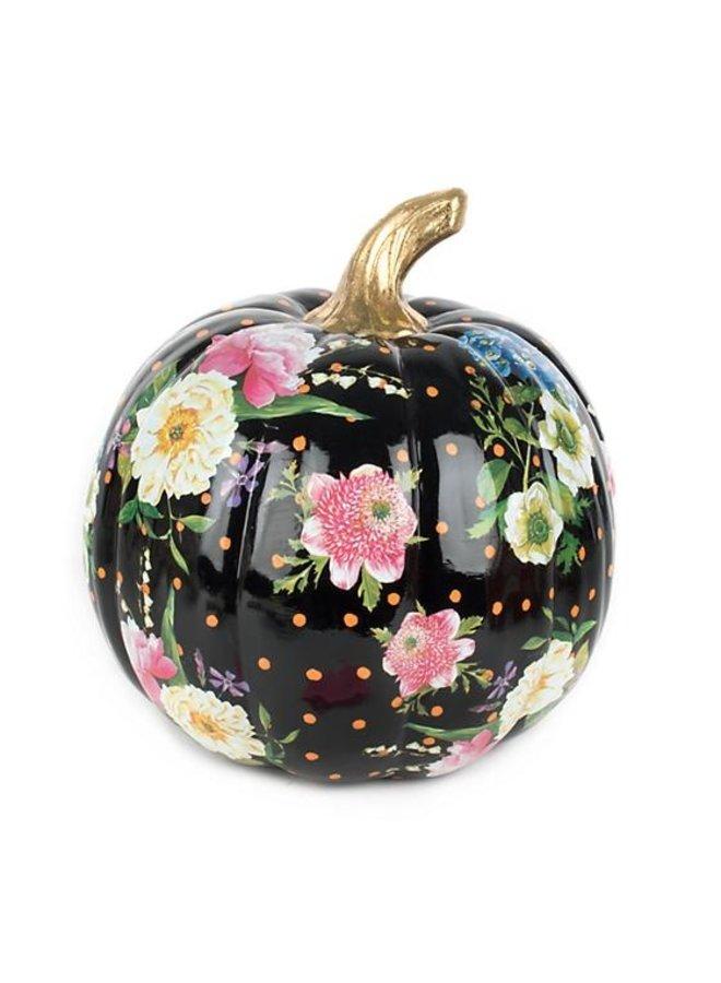 Flower Market Pumpkin-Medium-Black