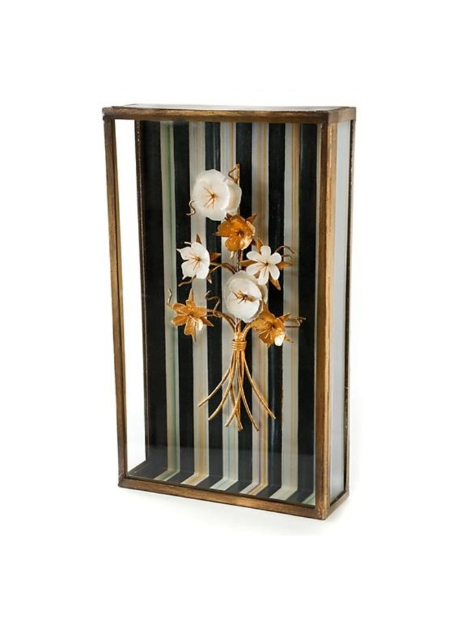 Golden Flower Shadow Box