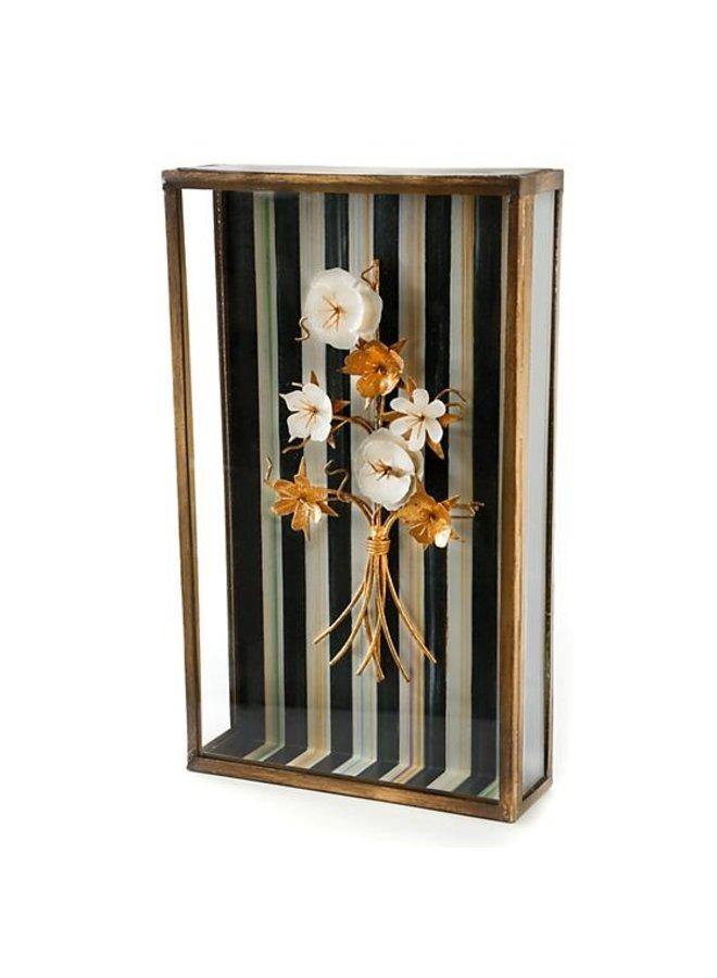 Golden Flower Shadow Box