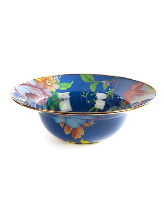 Flower Market Serving Bowl-Lapis