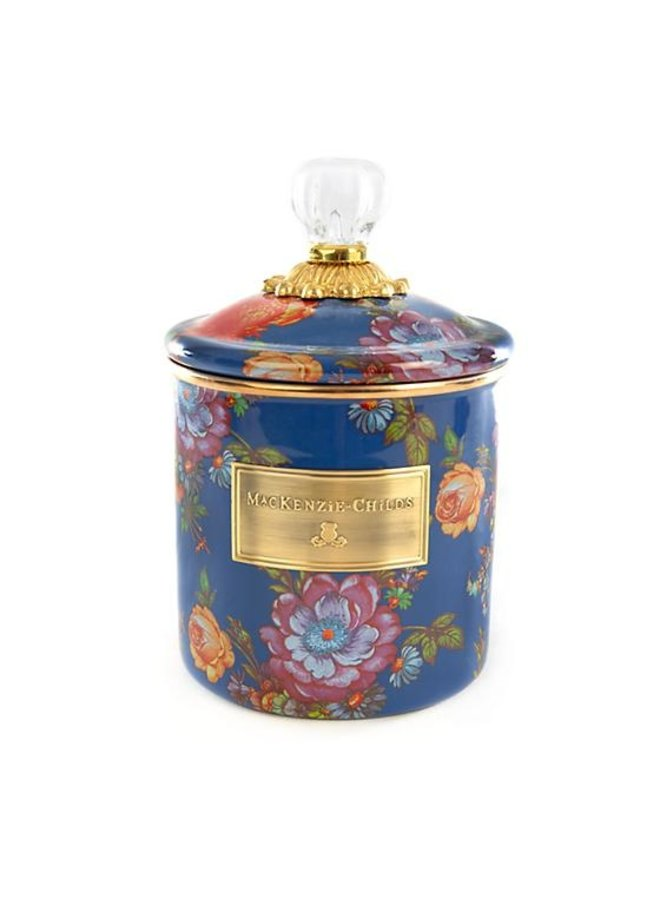Flower Market Small Canister-Lapis