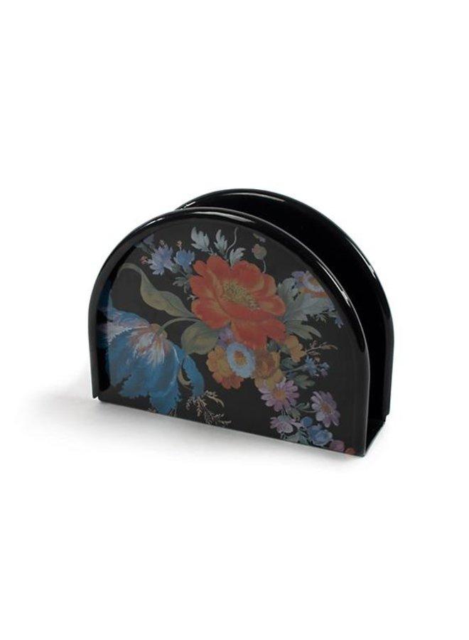 Flower Market Napkin Holder-Black