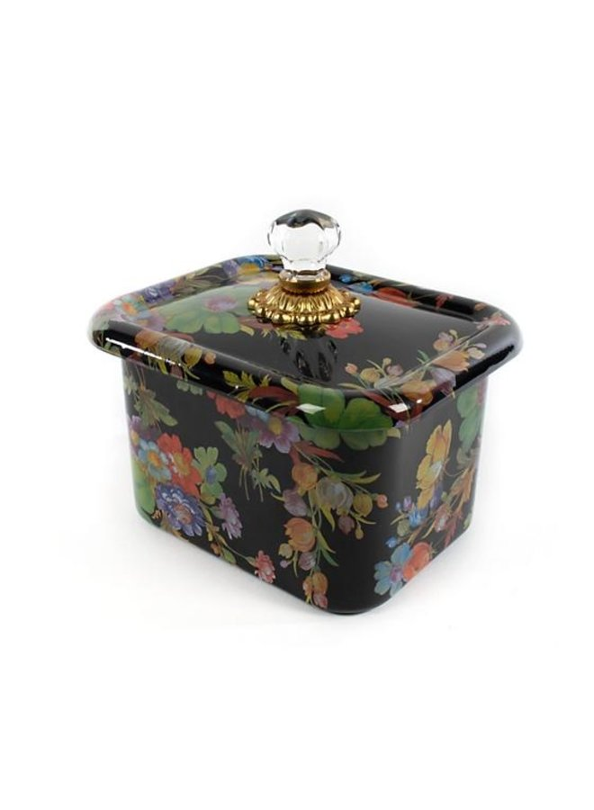 Flower Market Recipe Box-Black