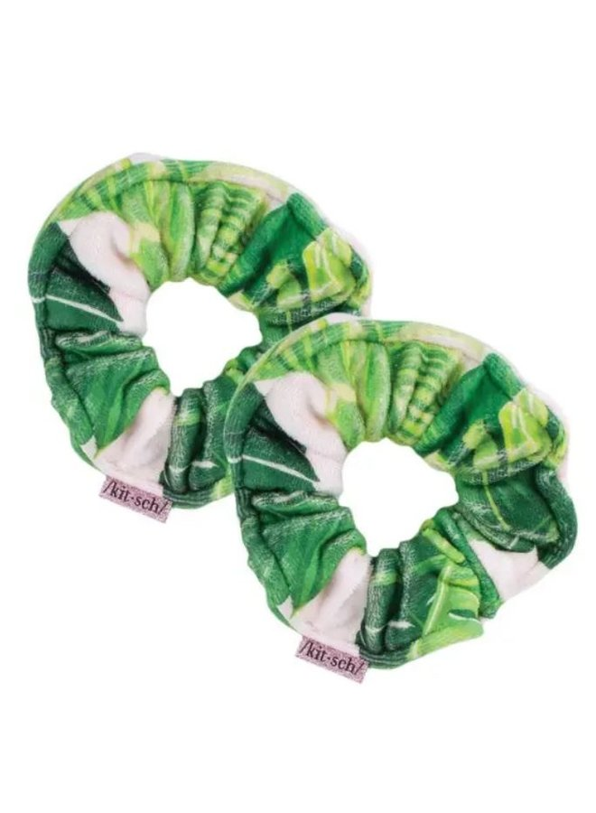 Palm Microfiber Towel Scrunchies