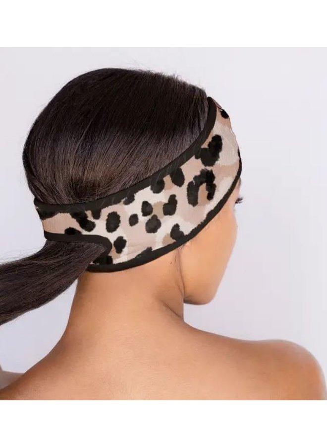 Leopard Microfiber Spa Headband