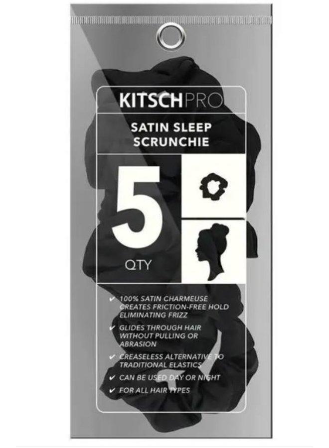 Black Satin Sleep Scrunchie