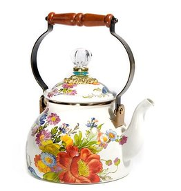 MacKenzie-Childs Flower Market 2 Quart Tea Kettle