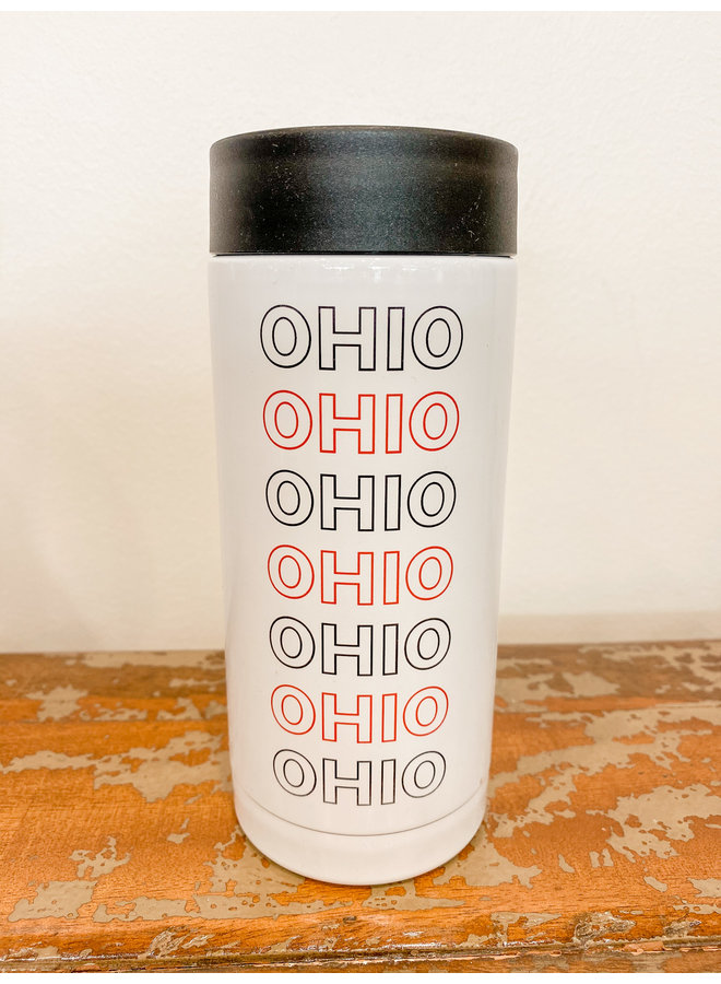 Metal Slim Coolie Black & Red Ohio