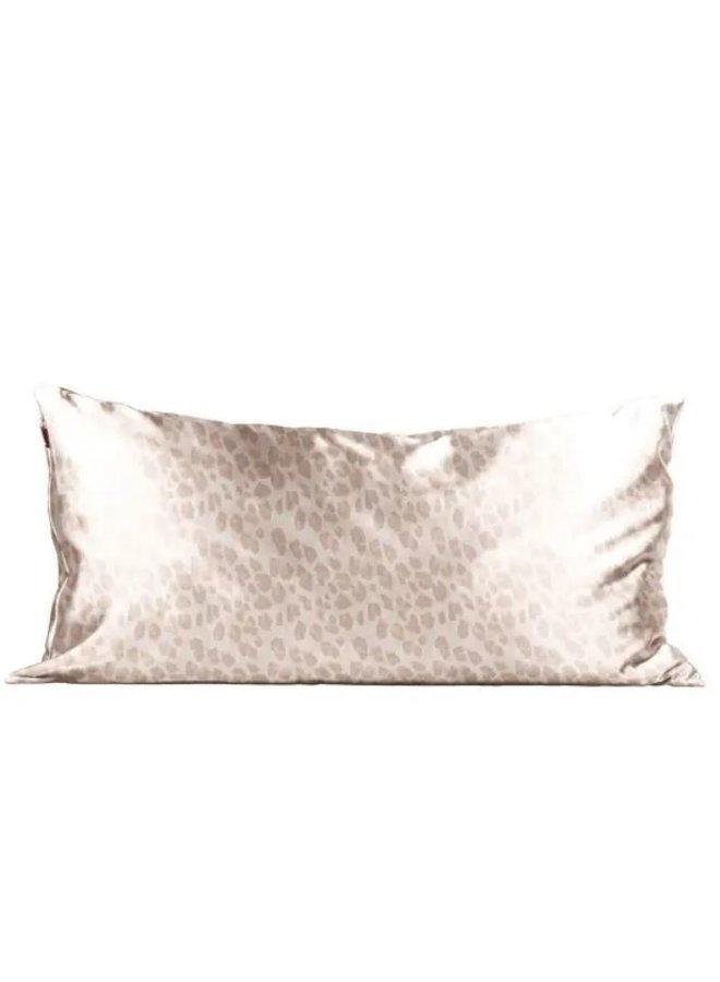 Satin Pillowcase King- Leopard