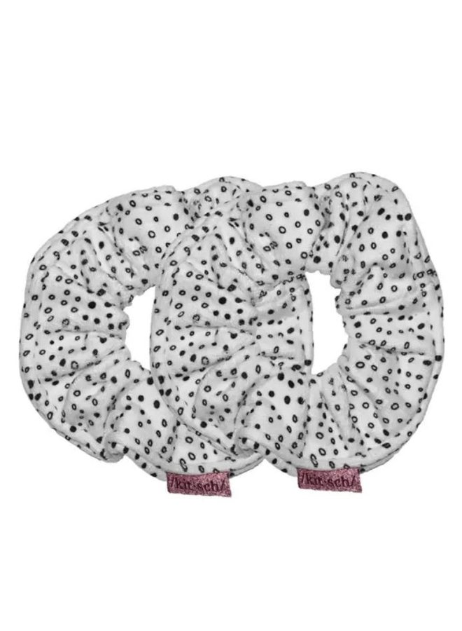 Micro Dot Microfiber Towel Scrunchies
