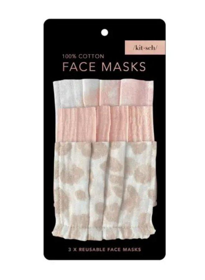 Cotton Mask 3pc Set- Blush